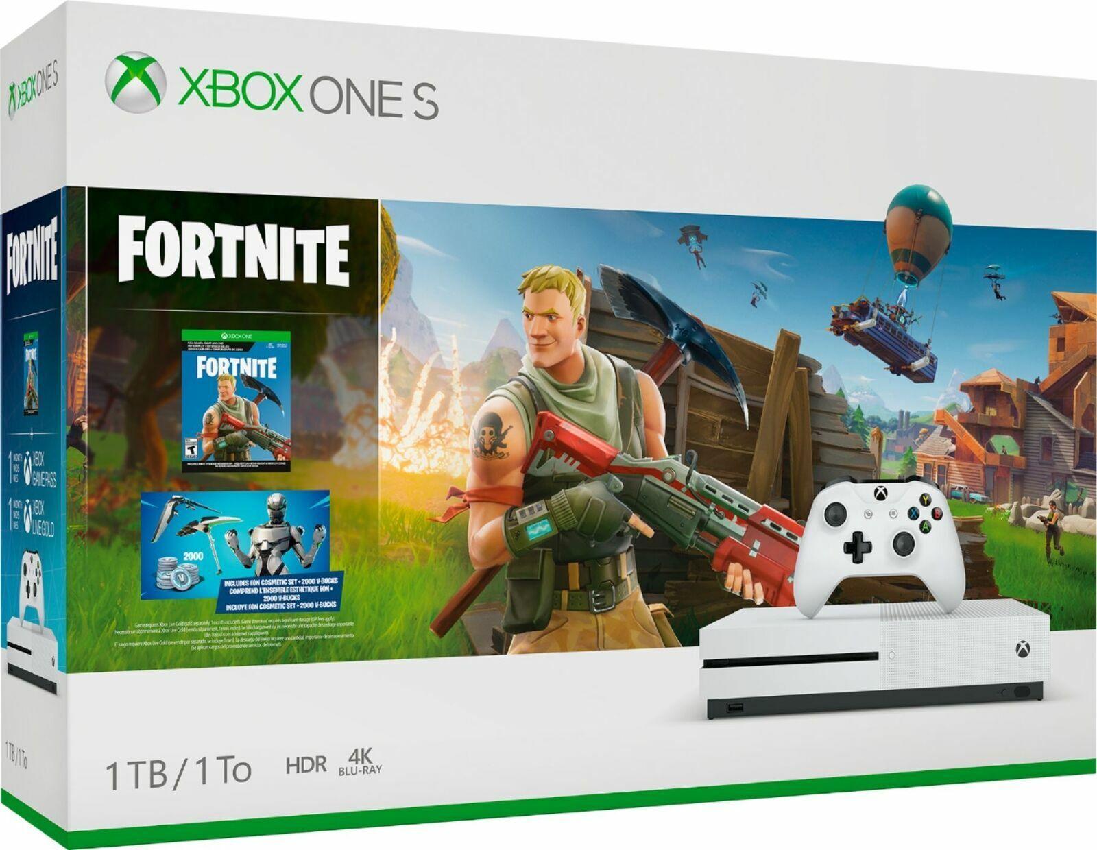 e26923f8 Microsoft Xbox One S 1TB White Console (NTSC) Bundle with Fortnite ...