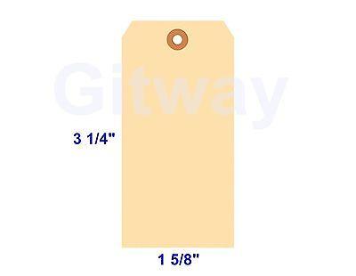 1000- 3 14 X 1 58 Size 2 Blank Manila Inventory Shipping Hang Tag Tags 10 Pt