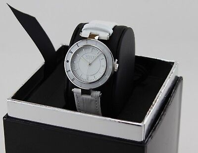 NEW AUTHENTIC VERSUS BY VERSACE LOGO WHITE LEATHER WOMEN'S SP8120015 WATCH
