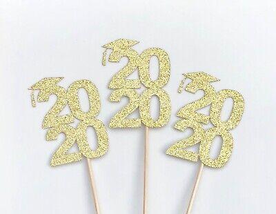 Graduation Centerpiece Sticks - Class of 2020 Toppers - Grad Party - Set of -