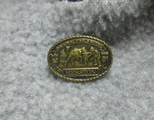 Vintage 1981 Hesston National Finals Rodeo hat pin tie tac lapel pin NFR