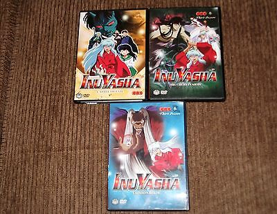 Lot 3 INU YASHA DVD Anime Vol 25,27,29 Brother in Arms Crimson Blade Castle Evil