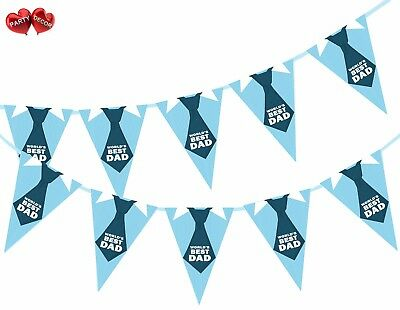 World Best Dad Fathers Day Theme Bunting Banner 15 flags by Party Decor - Best Theme Parties