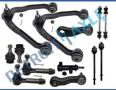 13pc Front Upper Control Arm Lower Ball Joint Tierod Pitman Idler Arm 6Lug -