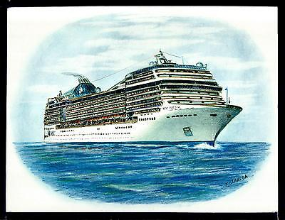 Original Art Work     Msc  Poesia    Msc    Cruise Ship   3 4 View