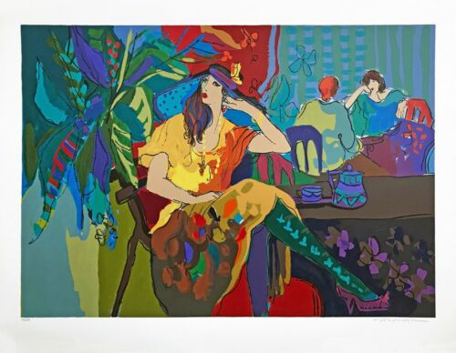 """Isaac Maimon """"table For One"""" 1991   Large Signed Serigraph 31x40""""   Others Avail"""