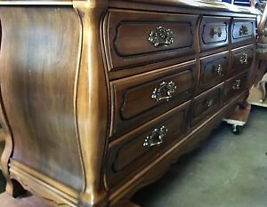 Wooden Skylar Peppler bombe/French Provincial style dresser