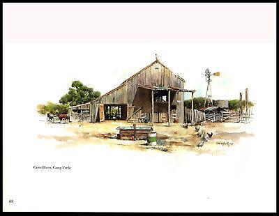 Buck/Edward Meugge Schiwetz—Camel Barns, Camp Verde—Art Print 9x11.75