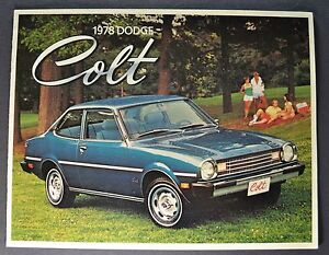 1978 Dodge Colt Catalog Sales Brochure Excellent Original 78