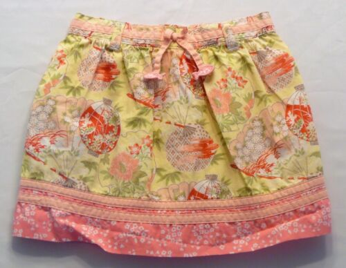 """Janie & Jack """"Spring Blush"""" Yellow Asian Oriental Lined Skirt, 12-18 mos."""