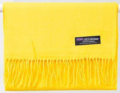 Free Shipping 2PLY SOFT 100% Cashmere Scarf Yellow Scotland Wool Men Wrap Plaid