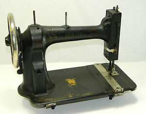 Antique White Treadle Sewing Machine Head Black Vintage 1882 Cast Iron Clothes