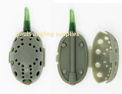 Inline Opening Maggot / Grub Fishing Cage Blockend Feeder Swimfeeder 30g 37-016