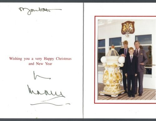 PRINCE CHARLES Signed Christmas Card, Heir to the Throne Prince of Wales JSA LOA