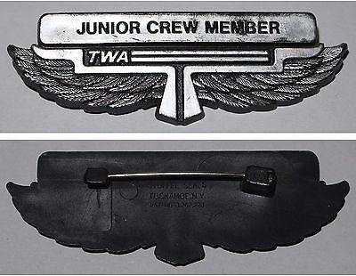 Bordpersonal Abzeichen TWA Airlines Junior Crew Member
