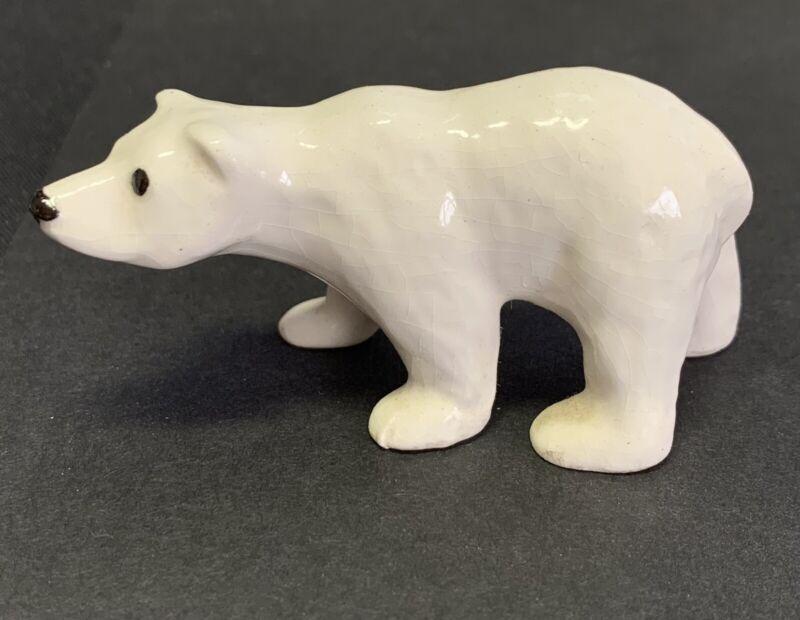 Hagen Renaker Porcelain Polar Bear Miniature Figurine