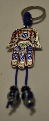 Evil Eye Nazar Hamsa Good Luck Protection Amulet Kabbalah Keychain Charm Fob New