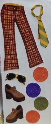 Creative Memories Mens 50's Disco Outfit accessories Bee stickers Scrapbook NEW](50s Outfits For Men)