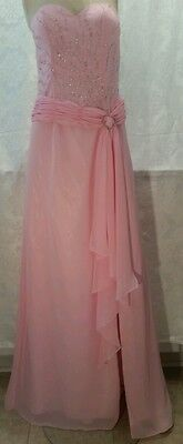 Candy Dresses For Halloween (WHAT'S HOT FOR PROM Candy Pink Gown sz 6 Chiffon Princess Style Barbie)