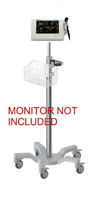 Rolling Roll Stand For Spacelabs Dm3 Patient Monitor New Big Wheel Mt-301