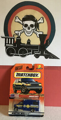 1999 Matchbox AMBULANCE RIDGE NEW YORK Matchbox USA 5/100 New In Package