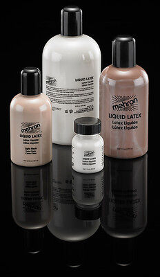 MEHRON LIQUID LATEX CLEAR FLESH BEIGE LIQUID LATEX MAKE UP 1OZ 4.5OZ 9OZ 16OZ - Make Halloween Makeup