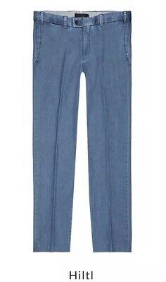 NWT HILTL MEN PARMA TROUSER Cotton Flat Front Pants SIZE UK 34