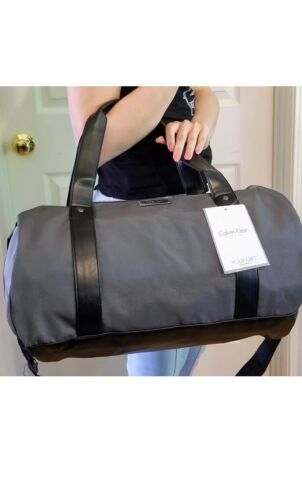 Calvin Klein CK Men Duffle Bag Weekender Travel Overnight Ha