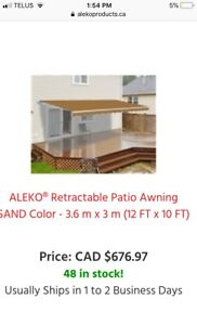 New Retractable Awning (sand colour)