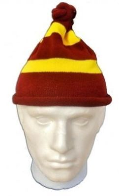 MAROON AND YELLOW STRIPED HARRY POTTER HOG WARTS STYLE FANCY DRESS BOOK WEEK HAT