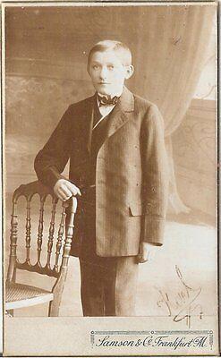 CDV photo Feiner Junge - Fankfurt Main 1900er