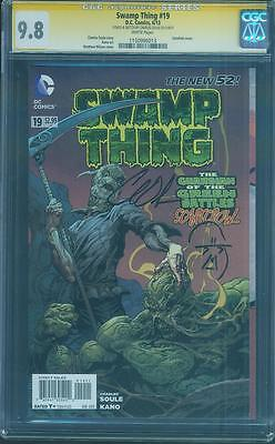 Swamp Thing 19 CGC SS 9.8 Charles Soule Sketched Scarecrowl Gatefold Key Cover