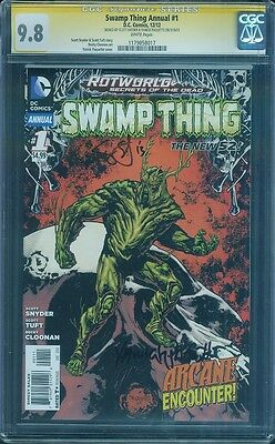 Swamp Thing Annual 1 CGC SS 9.8 Scott Snyder Yanick Paquette 2 signed Cloonan