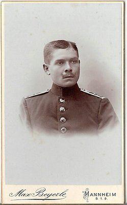 CDV photo Soldat - Mannheim um 1900