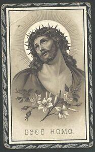 Estampa-antigua-Ecce-Homo-de-Jesus-andachtsbild-santino-holy-card-santini
