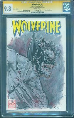 Wolverine 1 CGC SS 9.8 Vo Nyugen Original art sketch Variant Old Man Logan movie