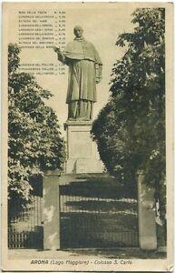 1932-Arona-Lago-Maggiore-Colosso-di-San-Carlo-Monumento-FP-B-N-VG