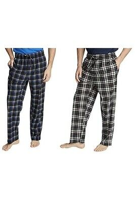 Nautica Men's Sueded Fleece Pajama Pants 2 Pack, Black/Blue/Plaid