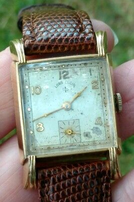 Vintage Lord Elgin 14k Gold Filled Manual 21j Cal. 556 Wrist Watch. Fancy Lugs! - 14k Gold Wrist Watch