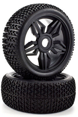 Apex RC Products 1/8 Off-Road Buggy Black Diamond Wheels / Nub Tires #6035 Black Diamond Off Road