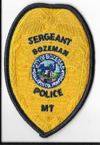 Bozeman Police Department, Montana Sergeant Breast Patch