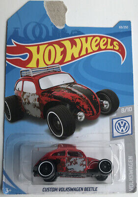 Hot Wheels Custom Volkswagen Beetle #69 RED 2019 new on Long card