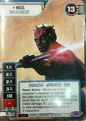2019 STAR WARS CELEBRATION Destiny Celebration Maul - Skilled Duelist promo FFG