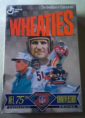 WHEATIES NFL 75th Anniversary Unopened COLLECTORS EDITION Cereal Box 1995