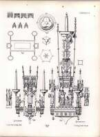Gothic Lubeck Candelabrum Of Brass In Naval Of Dome -  - ebay.co.uk