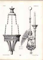 Gothic Lubeck Church Bronze Lamp Suspended Before Tomb Of Albert Biscope Angel -  - ebay.co.uk