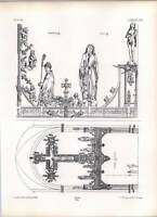 Gothic Lubeck Church Great Beam Supporting Rood Sketch -  - ebay.co.uk