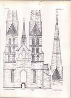 Gothic Lubeck St Mary's Church West Front -  - ebay.co.uk