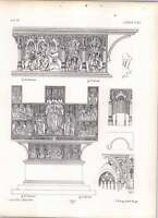 Gothic Lubeck Holy Ghost Chapel Carved Wooden Tryptich Lower Part -  - ebay.co.uk