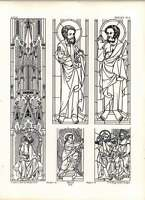 Gothic Erfurth Cathedral Figures From Stained-glass Remaining - remain - ebay.co.uk